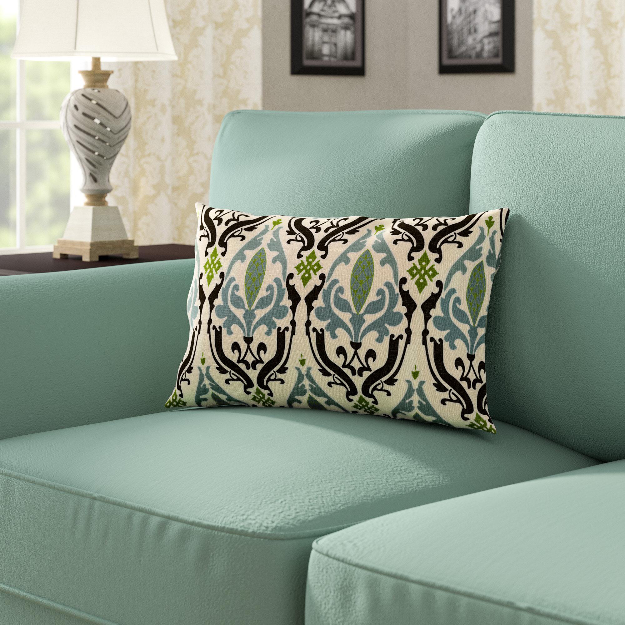Alcott Hill Arcadia Print Linen Throw Pillow Wayfair