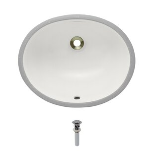 MR Direct Vitreous China Oval Undermount Bathroom Sink with Overflow And D..