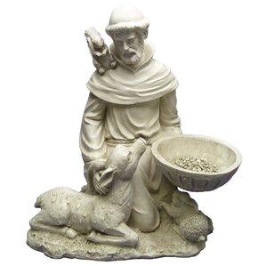 Saint Francis Feeds The Animals Garden Statue