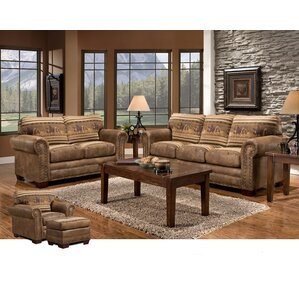 Rustic Living Room Sets You\'ll Love | Wayfair