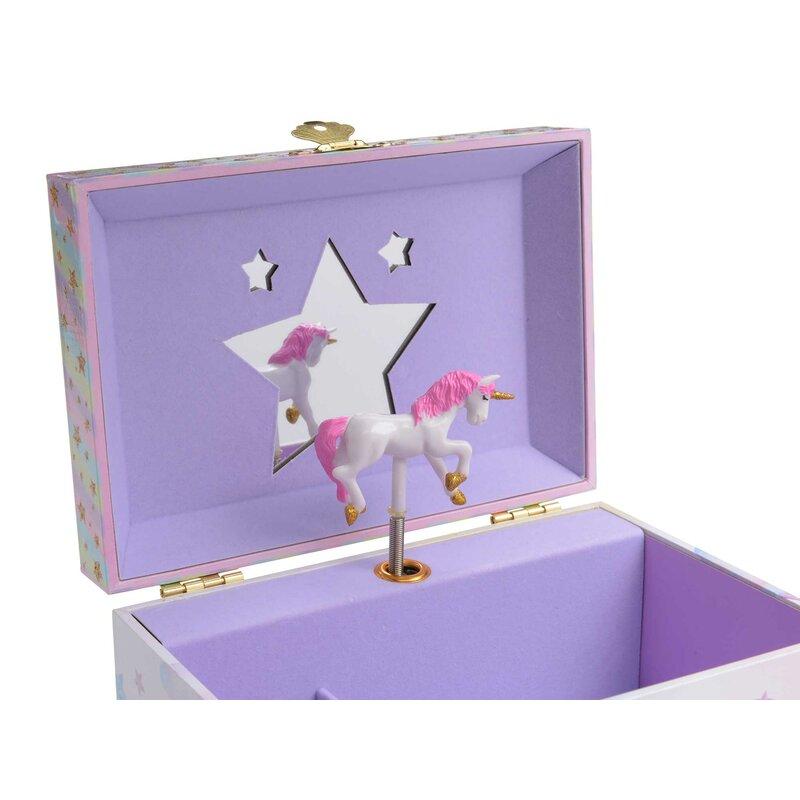 Rainbow Unicorn Trinket Box Jewellery Kids Bedroom