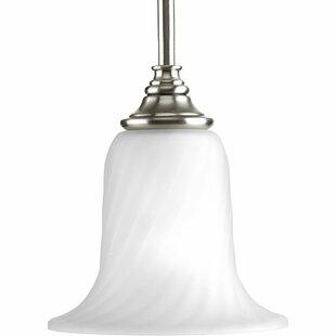Fleur De Lis Living Terrie 1-Light Bell-Pendant