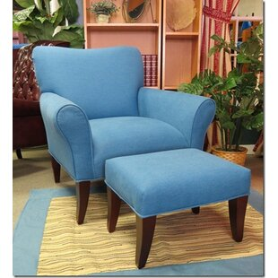 Rush Furniture Cotton Chair and Ottoman