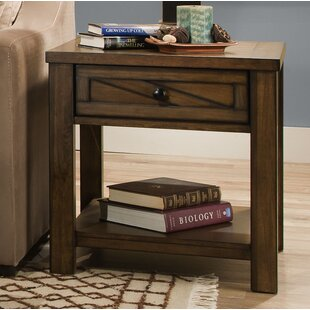 Gracie Oaks Dorcey End Table with Storage by Simmons Casegoods
