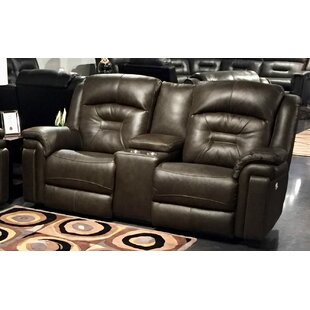 Avatar Leather Reclining Loveseat by Sout..