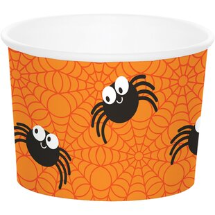 Spider Halloween Paper Disposable Cup (Set of 24)