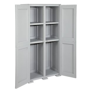 165cm H X 88cm W X 42cm D Storage Cabinet With 6 Shelves And Divider By Symple Stuff