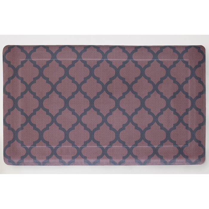 Comfort Quatrefoil Kitchen Mat