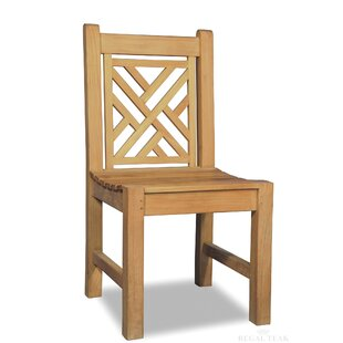 Chippendale Teak Patio Dining Chair