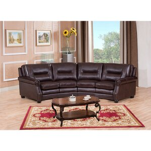Burnaby Leather Sectional by Amax