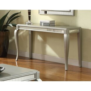 Bowlin Mirror Trim Rectangle Console Table