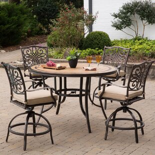Bucci 5 Pieces High-Dining Set with Cushions