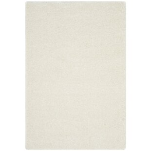 Comparison Elodie White Shag Area Rug By Mercer41