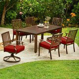 Delma 7 Piece Dining Set with Cushion