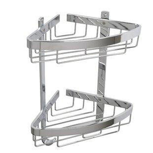 Rebrilliant Ellingson Aluminum Large 2-Tier Corner Basket