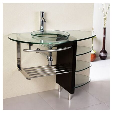 Kokols Glass Circular Vessel Bathroom Sink With Faucet Reviews