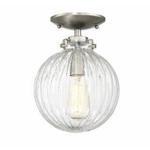 Nevarez 1-Light Semi Flush Mount by Beachcrest Home