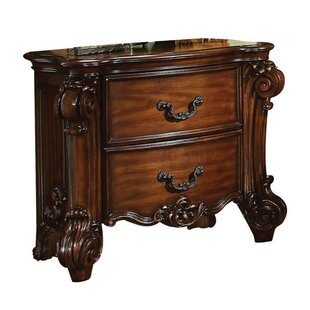 Stryker Wooden 2 Drawer Nightstand
