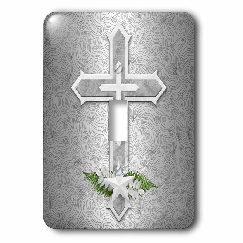 3drose Christian Cross 1 Gang Toggle Light Switch Wall Plate Wayfair