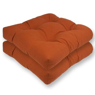 Spectrum Reversible Indoor/Outdoor Sunbrella Dining Chair Cushion (Set of 2)