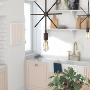 Dewberry 1-Light Bulb Pendant by Wrought Studio