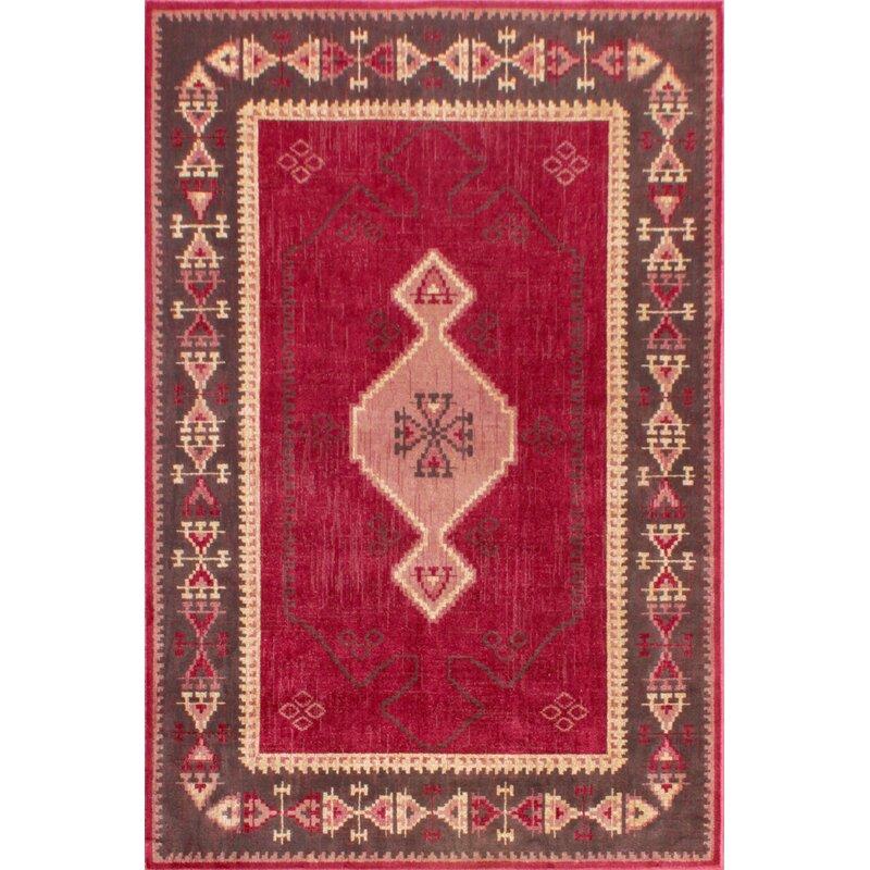 Gilyard Oushak Tabriz Tufted Red Rug