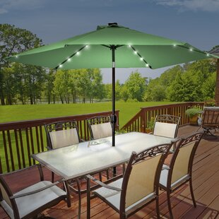 Rahate Solar LED Outdoor 10' Market Umbrella by Darby Home Co