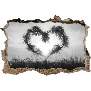 Bamboo Heart Wall Sticker By East Urban Home