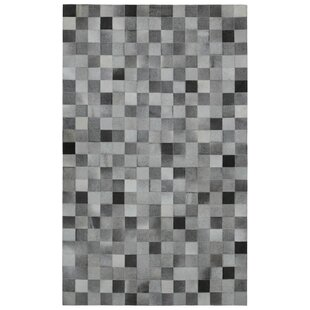 Online Reviews Sandford Hand-Woven Gray/Black Area Rug ByIvy Bronx
