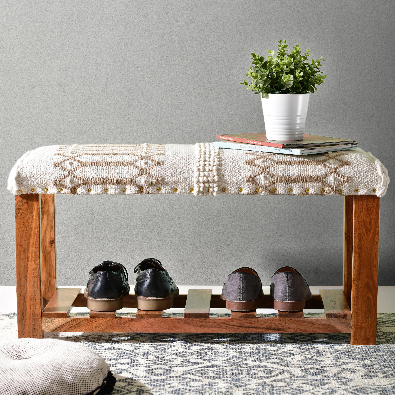 Dakota Fields Upholstered Shoe Storage Bench Reviews