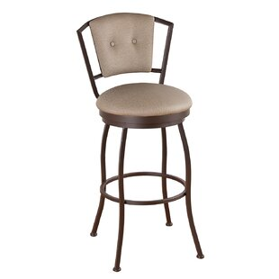 Leia 34 Swivel Bar Stool Alcott Hill