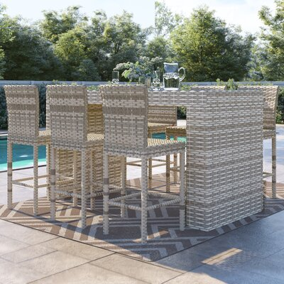 Falmouth 7 Piece Bar Height Dining Set by Sol 72 Outdoor 2020 Coupon