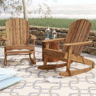 Crossen Solid Wood Rocking Adirondack Chair (Set of 2)