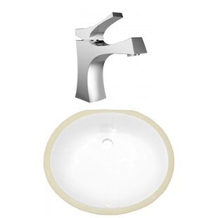 Best Reviews CSA Ceramic Oval Undermount Bathroom Sink with Faucet and Overflow ByAmerican Imaginations