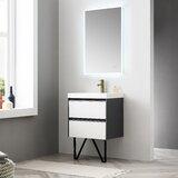 Courtnie Waterproof Ergonomic 24 Single Bathroom Vanity Set with Mirror by Brayden Studio®