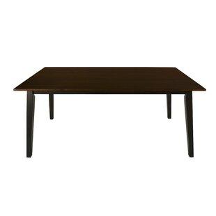 Sariah Standard Table - Antique Oak Ii & Black Highlight