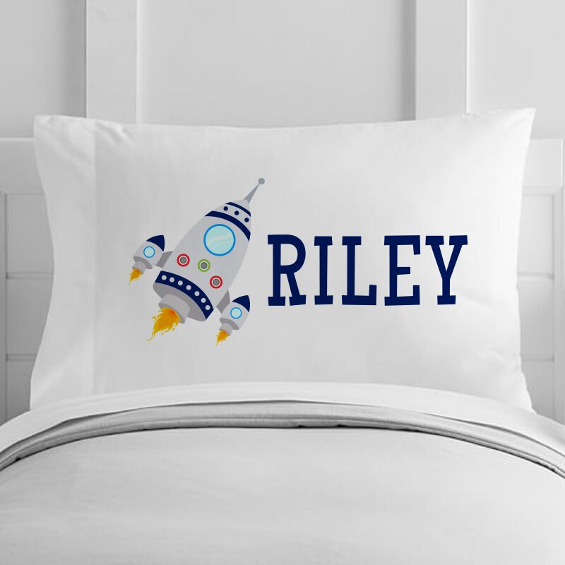 personalized rocket ship toddler pillow case - Toddler Pillow Case