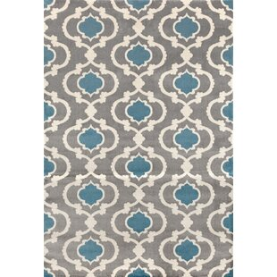 Reviews Melrose Gray/Blue Area Rug By Andover Mills
