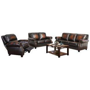 Cletus Leather Configurable Living Room Set by Canora Grey