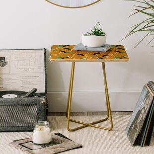 Hello Sayang Toucan Play This Mustard Game End Table by East Urban Home