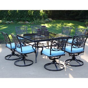Fleur De Lis Living Carleton 9 Piece Dining Set with Cushions