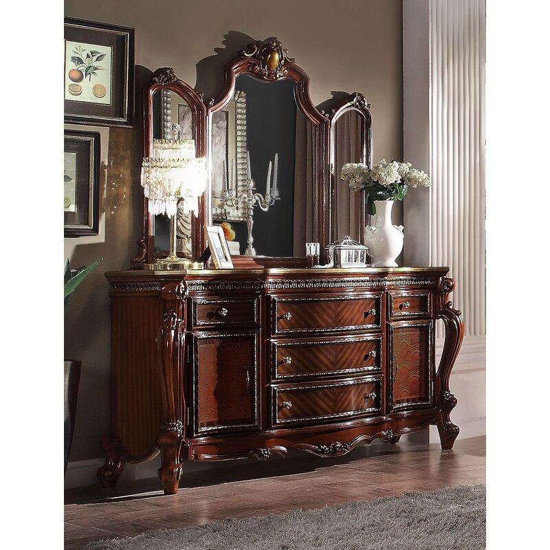 Rosdorf Park Croll Traditional Beveled Dresser Mirror Wayfair Ca