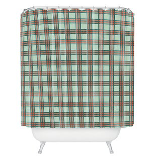Grassi Box Plaid Single Shower Curtain