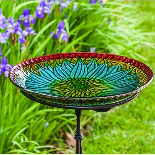 Evergreen Enterprises, Inc Bold Floral Birdbath
