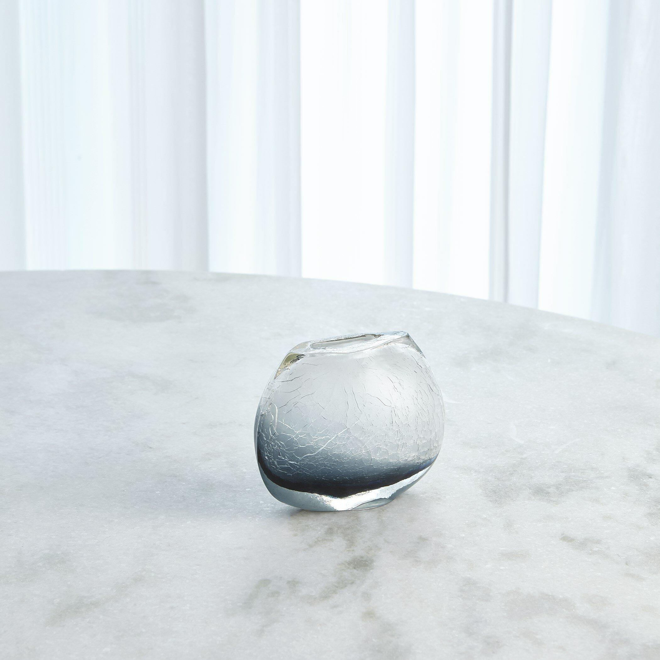 Studio A Blue Clear 7 75 Glass Table Vase Wayfair