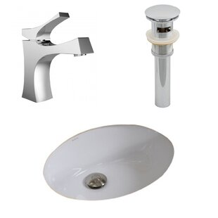 Find the perfect Ceramic Oval Undermount Bathroom Sink with Faucet and Overflow ByAmerican Imaginations