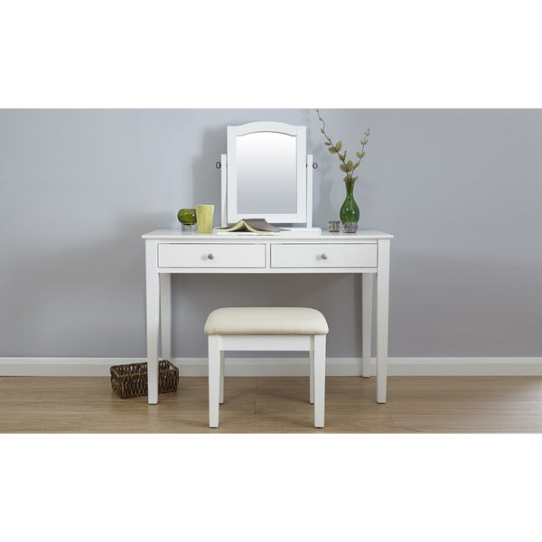 Riley Ave. Andre Dressing Table Set with Mirror & Reviews | Wayfair ...
