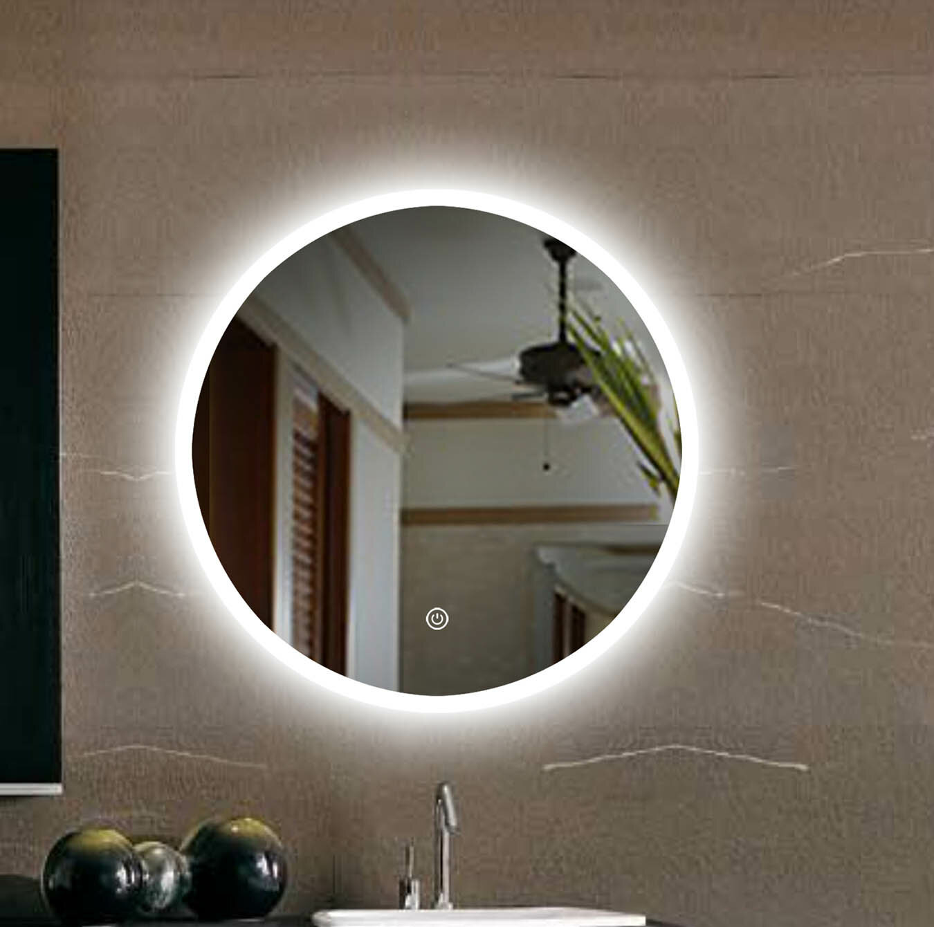 Ivy Bronx Huson Mordern Contemporary Frameless Lighted Bathroom Vanity Mirror Reviews Wayfair