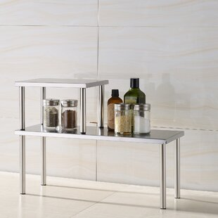 Zipcode Design Erin 2 Piece Stainless Steel Square Accent Storage Shelf Set