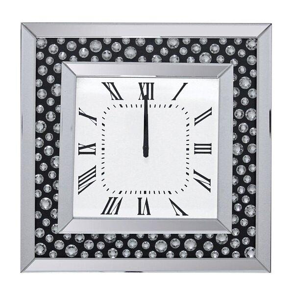 Floating Crystal Wall Clock Wayfair